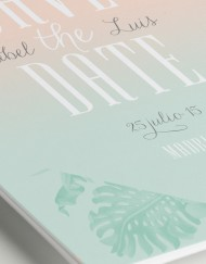 Invitaciones originales boda tropical - Save the date