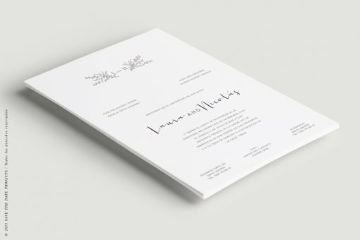 invitacion boda verticak sencilla kraft