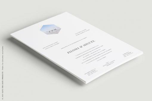 invitacion de boda moderna tarjeton a5