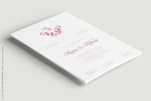 invitacion romantica clasica cerezos a5 vert