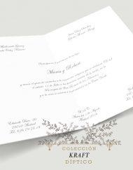 ivitacion de boda clasica kraft tarjeton