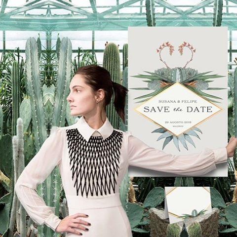 Invitaciones de boda con cactus en Madrid