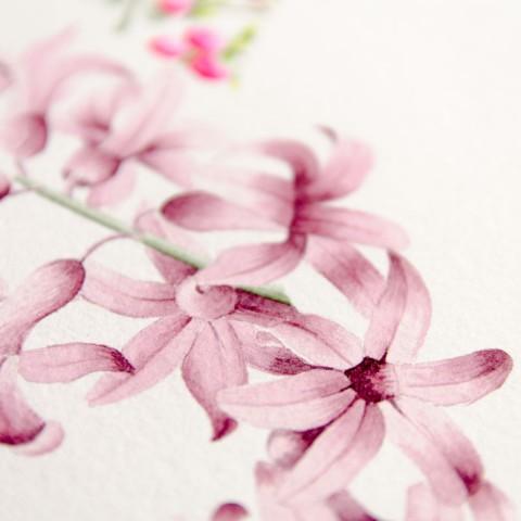 Invitaciones de boda acuarela y flores hechas a mano Carolina Buena C-6