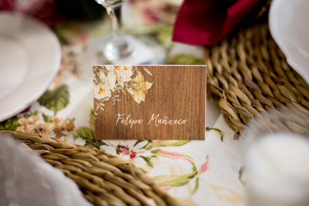 Invitaciones de boda rustica y campestre madera - Fotos Click 10-13