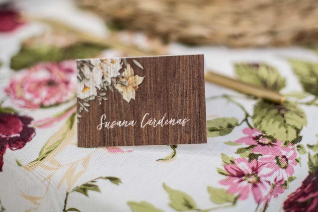 Invitaciones de boda rustica y campestre madera - Fotos Click 10-8