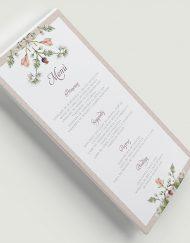 Minutas de boda clasica con flores