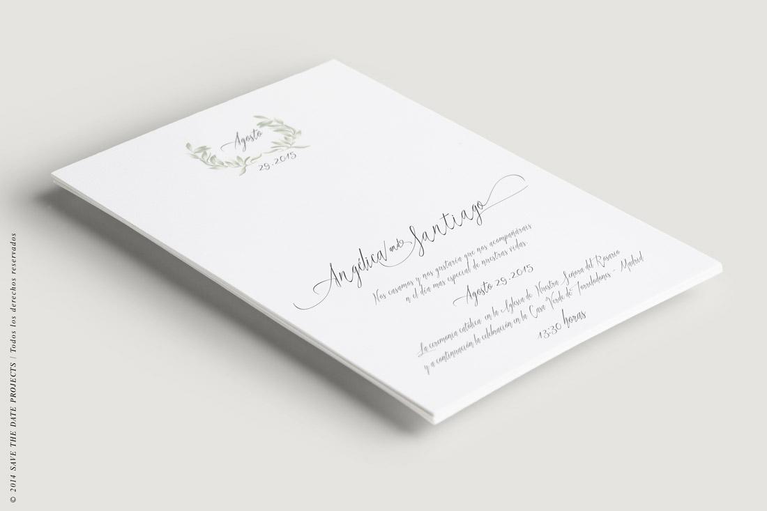 Invitaciones de boda con olivos III