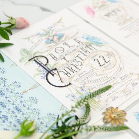 Invitaciones de boda personalizadas al seating plan - tu papelería de boda original