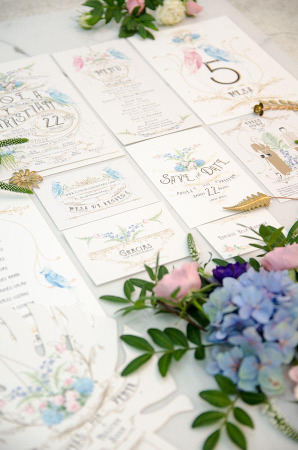 Invitaciones de boda personalizadas al seating plan - tu papelería de boda original- Paola y Christian