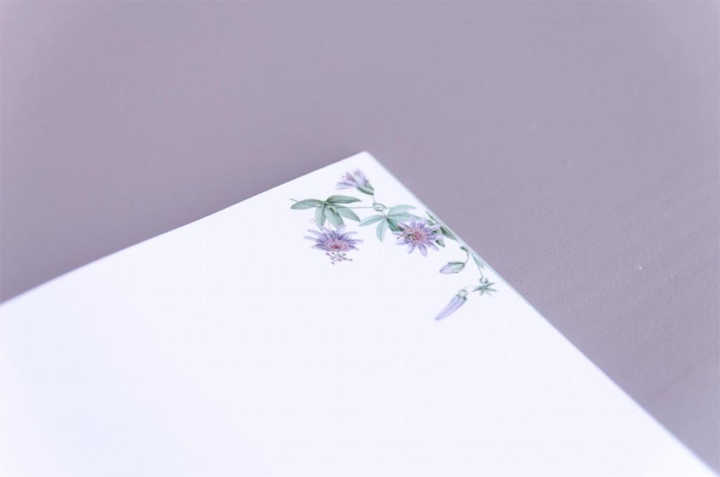 Detalles de boda originales Libreta receta semanal - Coleccion pasiflora flor de la pasion (10)