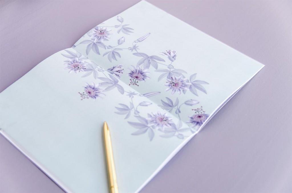 Detalles de boda originales Libreta receta semanal - Coleccion pasiflora flor de la pasion (14)