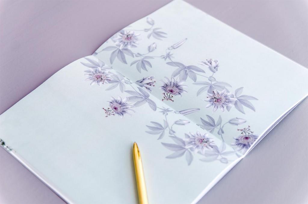 Detalles de boda originales Libreta receta semanal - Coleccion pasiflora flor de la pasion (16)