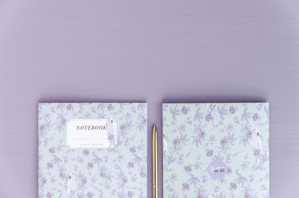 Detalles de boda originales Libreta receta semanal - Coleccion pasiflora flor de la pasion (4)