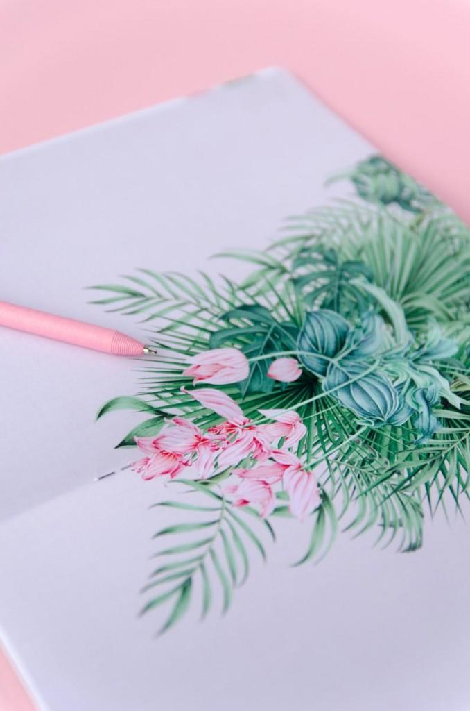 Detalles de boda originales Libreta receta semanal - Coleccion selva (17)