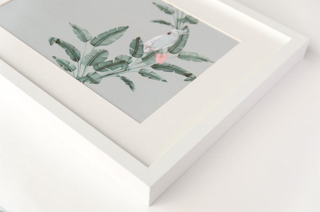 Detalles de boda originales lamina decoracion acuarela loro platanera HORIZONTAL planta - Coleccion platanera (10)