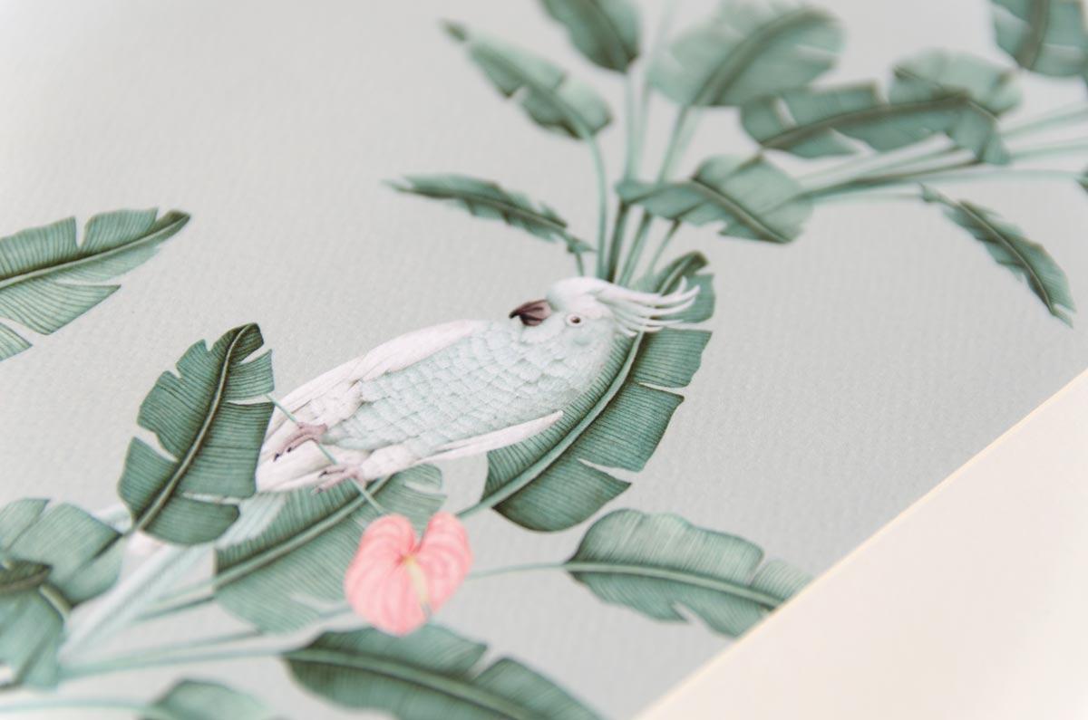 Detalles de boda originales lamina decoracion acuarela for Laminas de decoracion