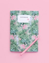 Detalles de boda originales libreta cuaderno receta - Coleccion Selva Acuarela (2)
