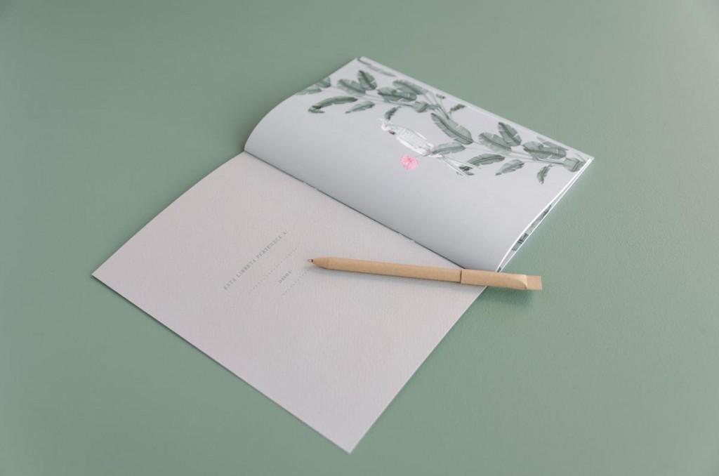 Detalles de boda originales libretas regalo dibujo acuarela - Coleccion platanera (13)