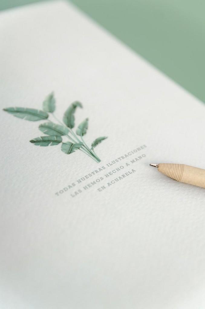 Detalles de boda originales libretas regalo dibujo acuarela - Coleccion platanera (30)