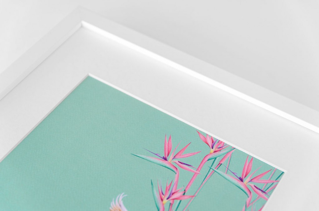 Detalles de boda papeleria lamina decorativa loro y flor pasion acuarela (13)