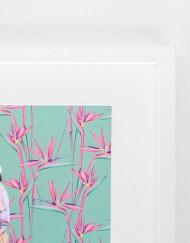 Detalles de boda papeleria lamina decorativa loro y flor pasion acuarela (19)