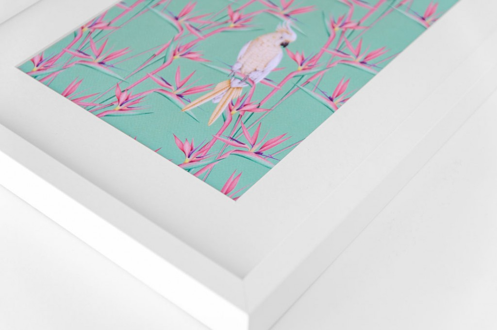 Detalles de boda papeleria lamina decorativa loro y flor pasion acuarela (3)