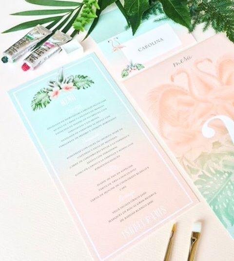 Branding de boda en Madrid tropical