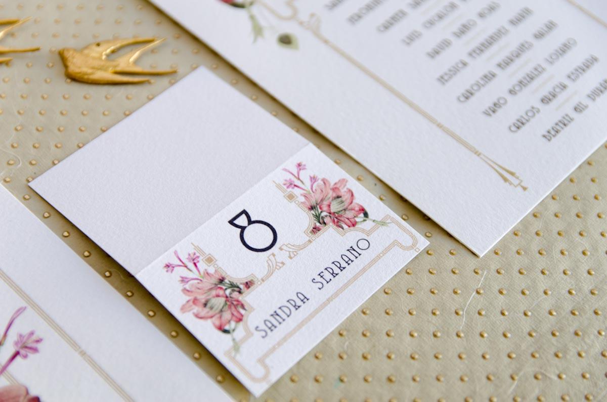 Invitaciones de boda acuarela Gatsby - papeleria completa - seating - pai pai-17
