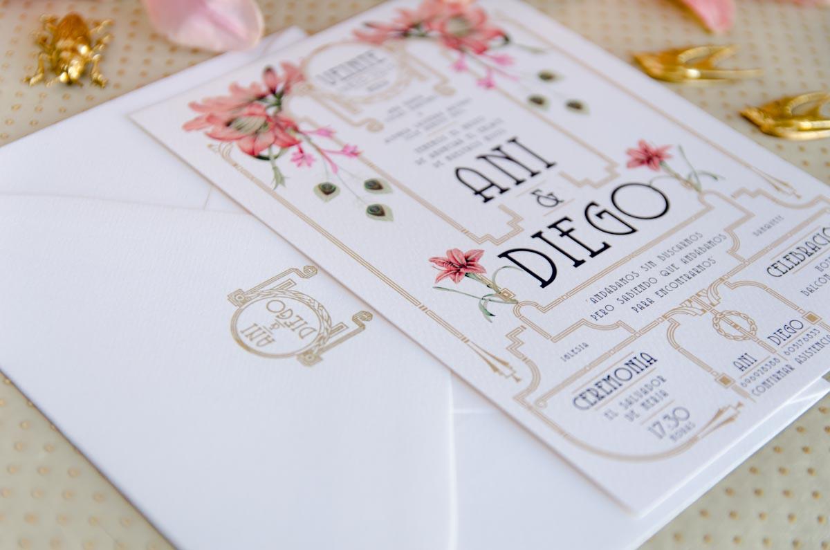 Invitaciones de boda acuarela Gatsby - papeleria completa - seating - pai pai-23