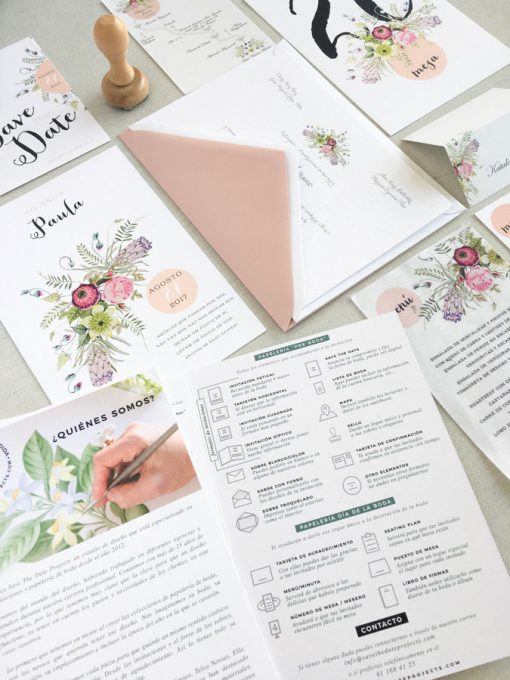 Tus muestras gratuitas de invitaciones de boda Save the date projects