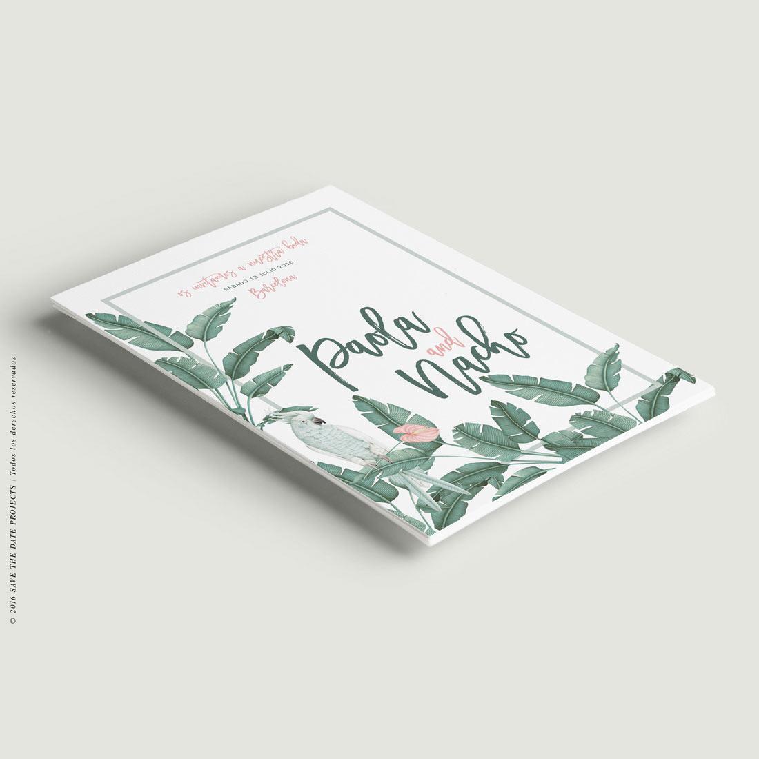 invitaciones de boda platanera ave