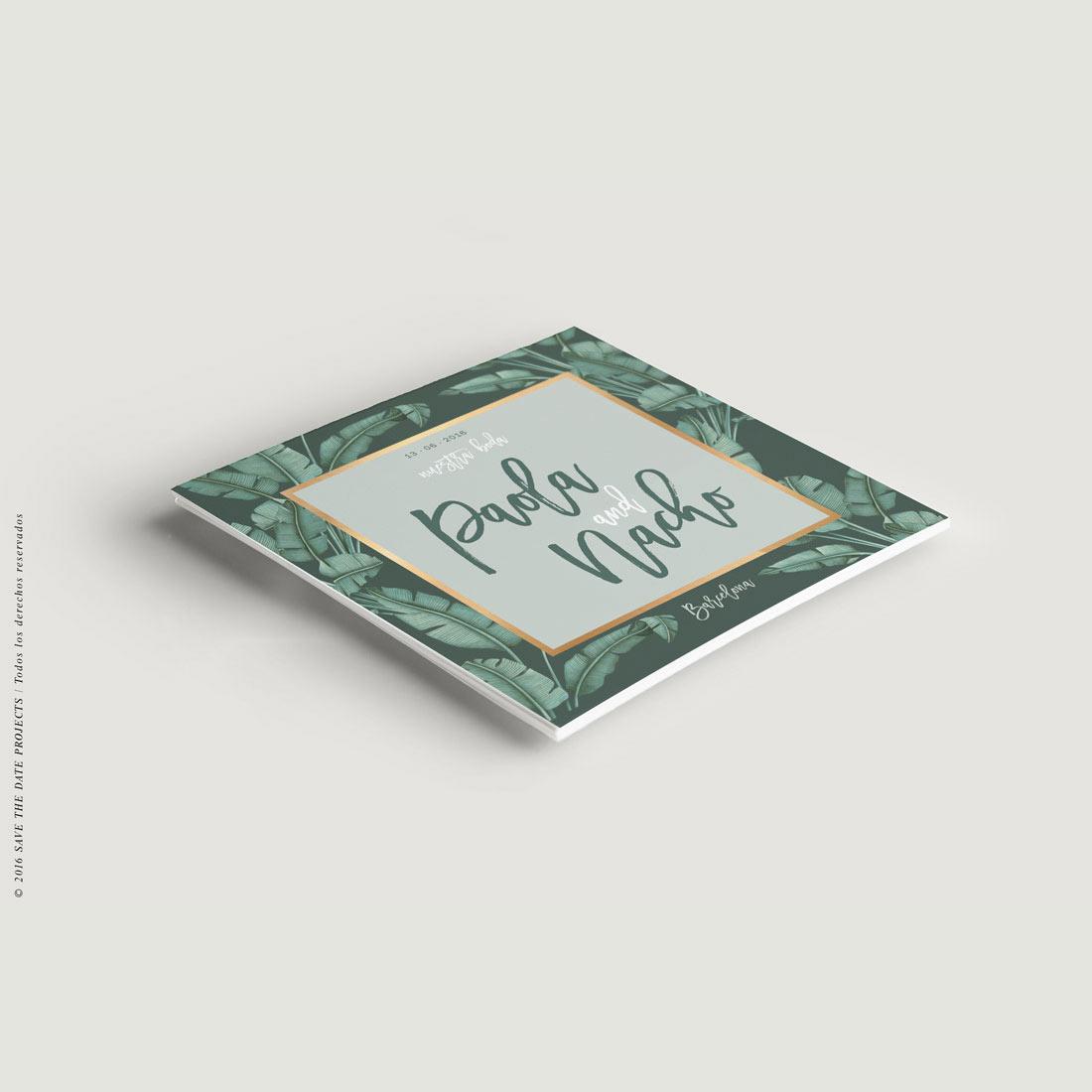 invitaciones-de-boda-originales-TROPICAL-PLATANERA-verde-dorado-CUADRADA-ANV
