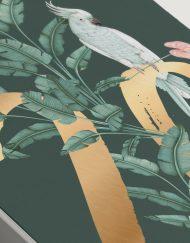 meseros-de-boda-acuarela-TROPICAL-PLATANERA-verde-dorado-DETALLE
