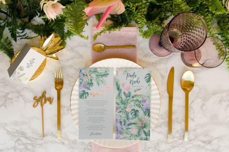 Minutas de boda y menus de boda