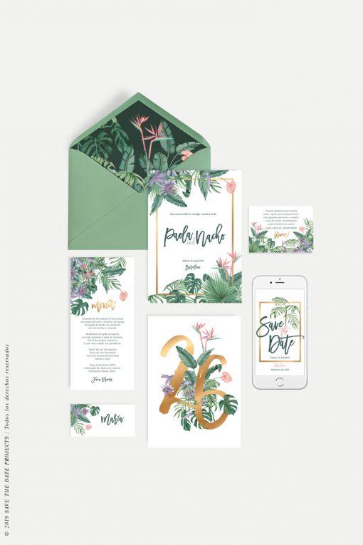 papeleria boda tropical selva