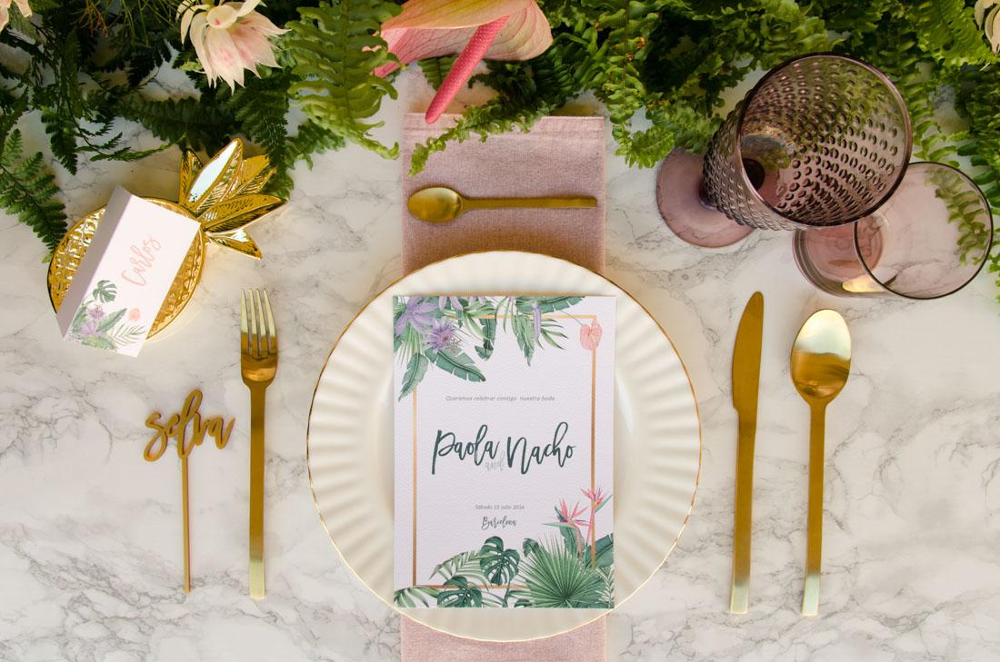 Invitaciones de boda originales colección selva
