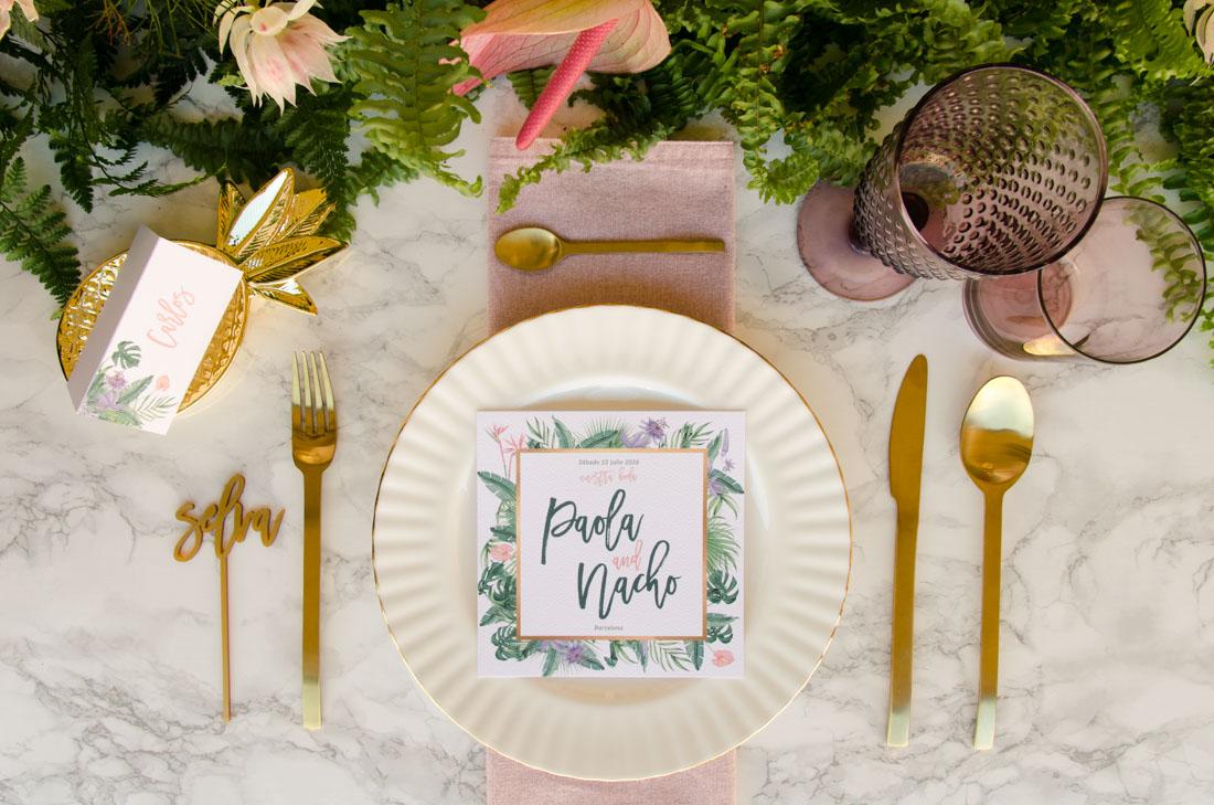 Invitaciones de boda originales y sobres forrados en Madrid
