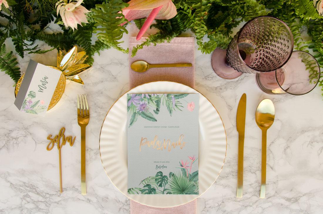 Invitaciones de boda originales platanera en madrid