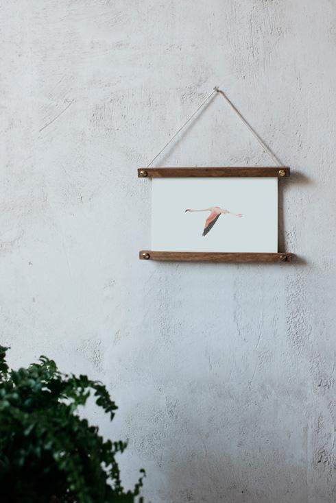 acuarela-botanica-donana-enmarcada-decoracion-bastidor-horizontal-flamenco2