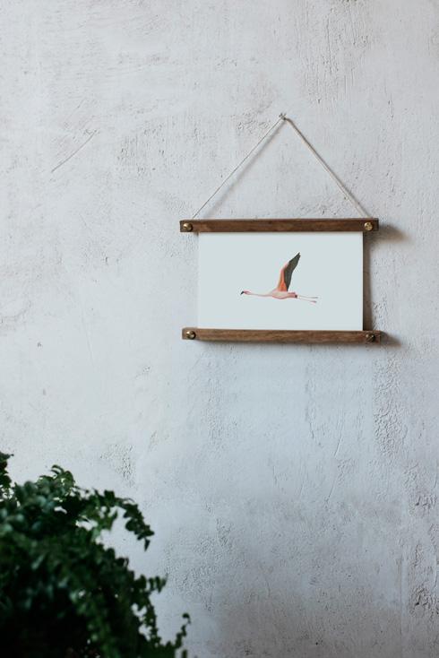 acuarela-botanica-donana-enmarcada-decoracion-bastidor-horizontal-flamenco3