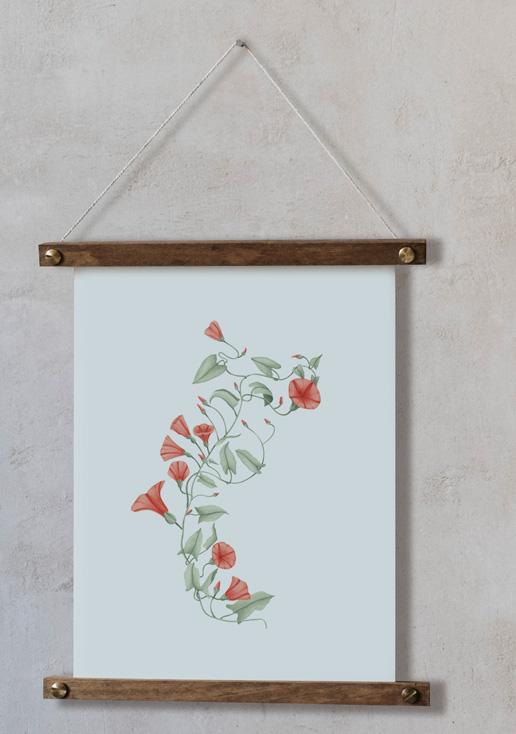 acuarela-botanica-donana-enmarcada-decoracion-bastidor-vertical-suelto-correhuela