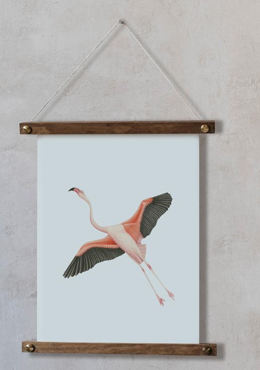 acuarela-botanica-donana-enmarcada-decoracion-bastidor-vertical-suelto-flamenco-volando