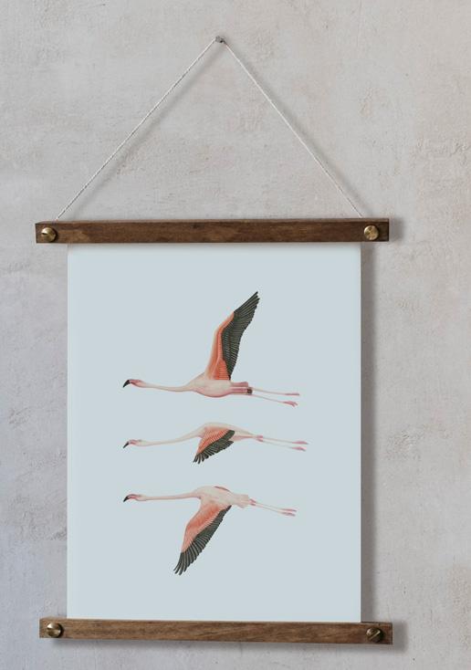 acuarela-botanica-donana-enmarcada-decoracion-bastidor-vertical-suelto-flamencos-volando