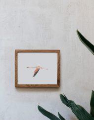 acuarela-botanica-donana-enmarcada-decoracion-marco-horizontal-madera-flamenco2