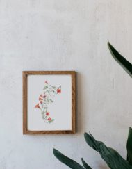 acuarela-botanica-donana-enmarcada-decoracion-marco-madera-vertical-correhuela