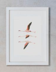 acuarela-botanica-donana-enmarcada-decoracion-marco-vertical-suelto-flamencos-volando