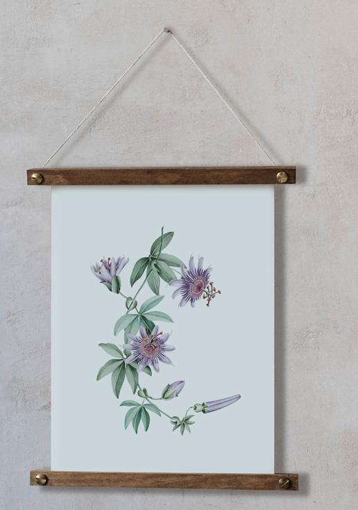 acuarela-botanica-tropical-enmarcada-decoracion-bastidor-vertical-suelto-passiflora