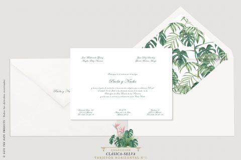 invitaciones selva tarjetón