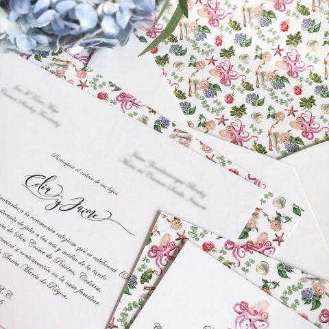 DETALLE- Invitaciones de boda personalizadas para bodas originales