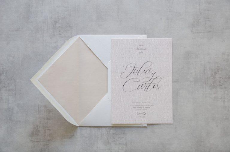 Tarjetas de invitaciones de boda elegantes caligrafia lettering (14)